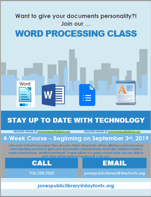 Word Processing Class